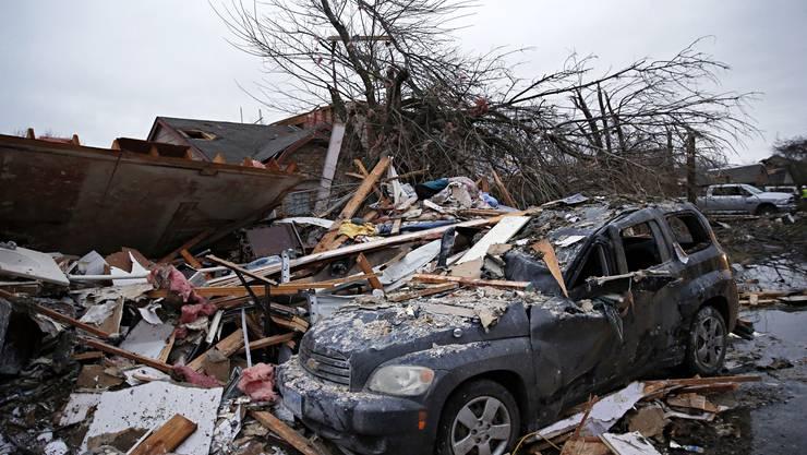 Der Tornado hinterliess Verwüstungen in Garland, Texas.