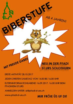 Flyer Biberstufe Pfadi St. Urs Solothurn