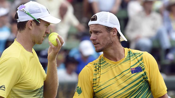 John Peers und Lleyton Hewitt (rechts) verloren das Doppel gegen die USA