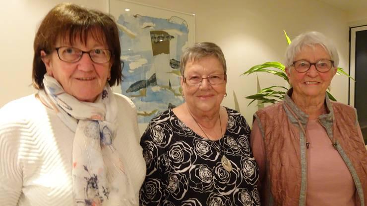Die Geehrten: Marlies Sampt, Ruth Junker, Martha Studer