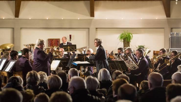 Die Brass Band Harmonie Wolfwil stand ein letztes Mal unter der Leitung von Emerita Blum-Duss.