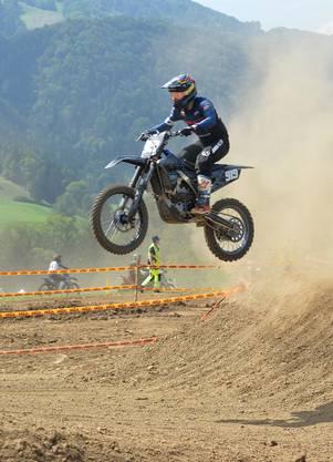 Roman Oppliger aus Wynigen. Auf dem Reckenkien in Mümliswil wurde das traditionsreiche Motocross Passwang 2019 durchgeführt.