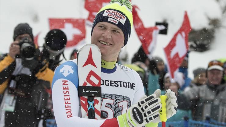 Startet Niels Hintermann nach dem Sieg in der Kombination von Wengen durch?