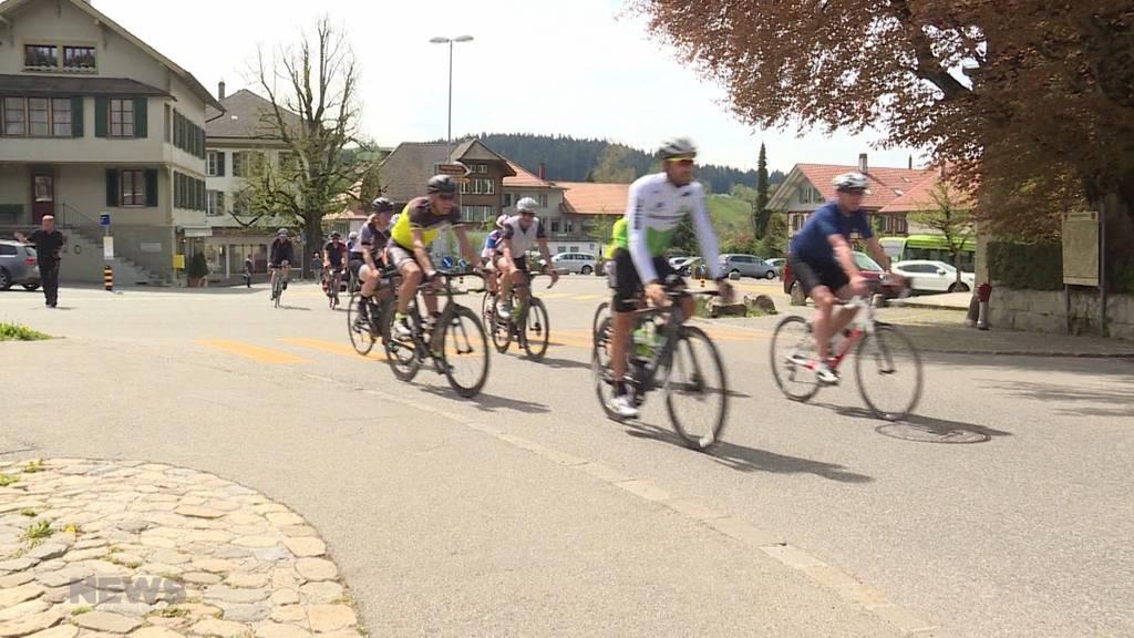Testfahrt der Tour de Suisse Strecke in Langnau