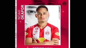 So begrüsst RB Salzburg den Neuzugang vom FC Basel, Noah Okafor.