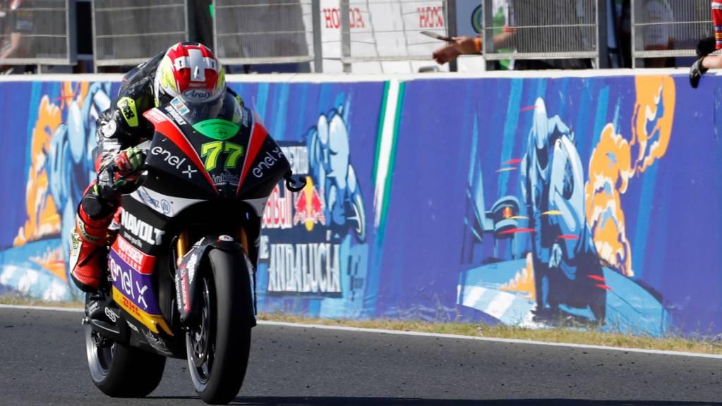 Dominique Aegerter Ende Juli 2020 bei seinem ersten MotoE-Sieg