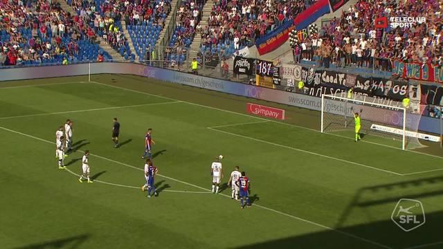 Super League, 2017/18, 5. Runde, FC Basel - FC Lugano, 1:0 van Wolfswinkel
