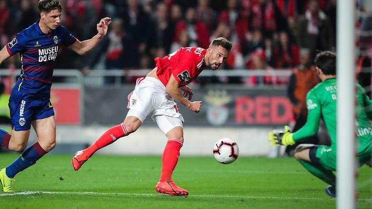 Haris Seferovic erzielte gegen Chaves bereits seinen 15. Meisterschaftstreffer in dieser Saison für Benfica Lissabon