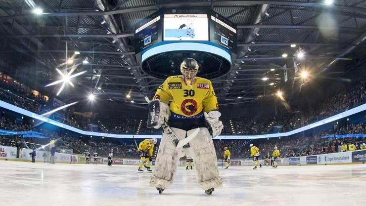 Leonardo Genoni in der Bossard Arena. Wird das Zuger Stadion bald seine Heimstätte?