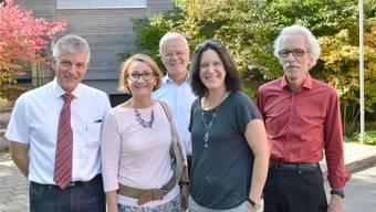 Die fünf Gemeinderäte wurden im Amt bestätigt (von links): Markus Zumbach, Sibylle Lüthi, Hanspeter Meyer, Françoise Moser und Heinz Hassler. Horatio Gollin
