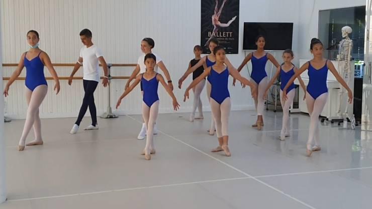 Die  motivierten Ballerinen und Tänzer