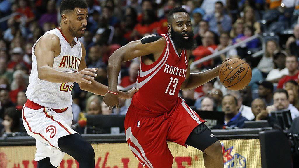 Thabo Sefolosha (links) zeigte beim Sieg der Atlanta Hawks gegen die Houston Rockets eine starke Leistung