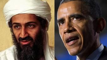 Terrorist Osama Bin Laden (links) und US-Präsident Barack Obama.