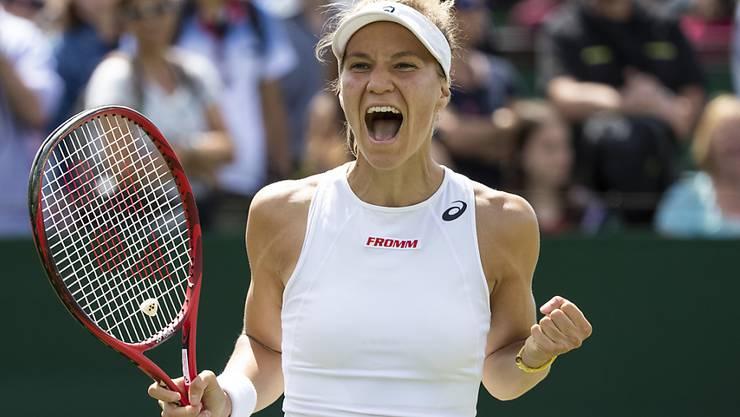 Viktorija Golubic jubelt: Sie erreichte erstmals seit zwei Jahren einen Halbfinal (Archivbild)