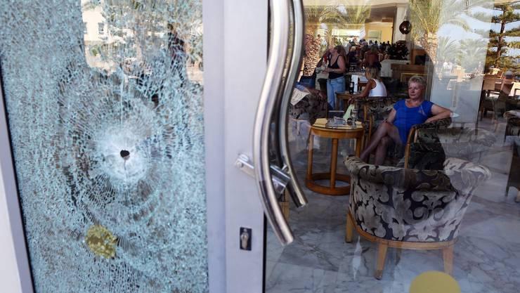 Auch im Hotel selber schoss der Attentäter um sich.