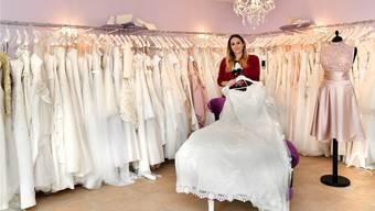 «Für mich hat sich mit dem Brautmodeladen ein Kindheitstraum erfüllt», sagt Tanja Hiltbrunner, Geschäftsführerin des Ladens LaiTa in Trimbach.