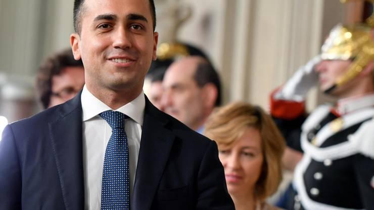 M5S-Chef Luigi Di Maio will nur mit der Lega eine Regierung bilden. Sonst soll es zu Neuwahlen kommen.