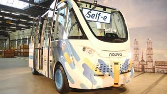Während zweier Wochen haben die Verkehrsbetriebe Zürich den Self-e auf ihrem Werkstattareal getestet.
