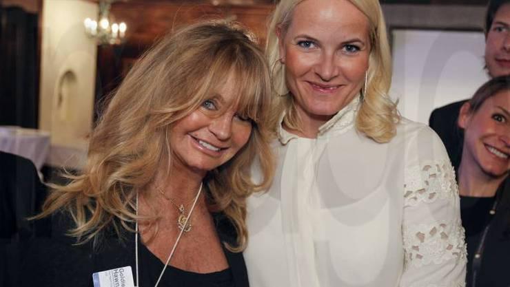 Goldie Hawn und Prinzessin Mette-Marit