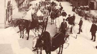 In den Kriegswintern wurden die Strassen von Pferdeschlitten geräumt. Die Verwendung von Diesel war verboten