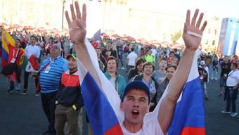 Die Menschen am Fan Fest in Samara
