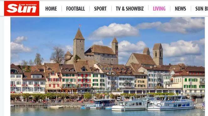 Das schöne Rapperswil am Bodensee. Laut der «Scottish Sun».