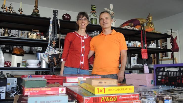 Renate und Patrick Niederberger haben sich einen Traum erfüllt und die Brockenstube Nupsi eröffnet. Barbara Scherer