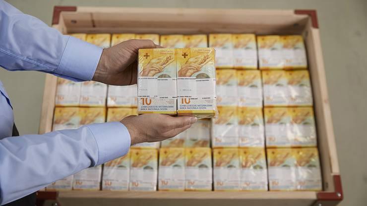 Und so wird die neue 10er-Note aussehen. Am 18. Oktober 2017 beginnt die Schweizerische Nationalbank mit der Ausgabe der neuen Banknote.