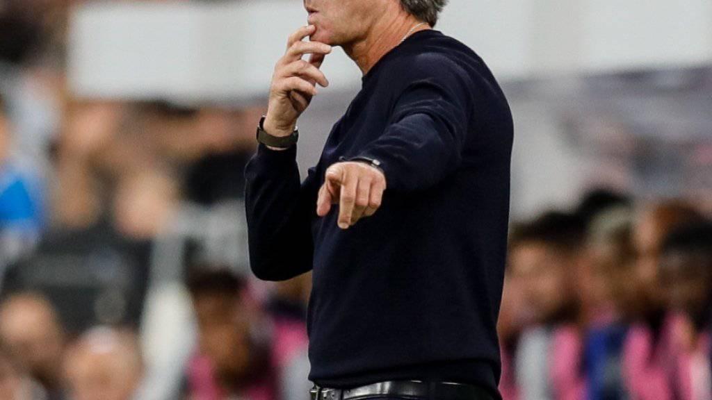 Kleinkorrektur in der Nations League: Jogi Löw coacht das deutsche Nationalteam gegen Weltmeister Frankreich zum Remis