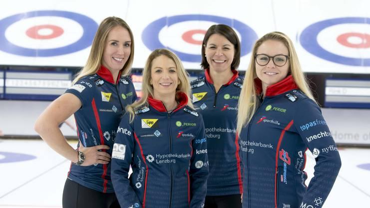 Das Team Tirinzoni: (v. l.) Melanie Barbezat, Skip Silvana Tirinzoni, Esther Neuenschwander und Alina Pätz.