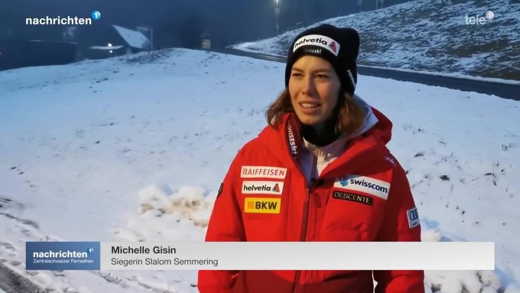 Historischer Slalomsieg für Michelle Gisin