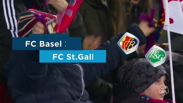 Super League: 20. Runde, FC Basel - FC St. Gallen, Highlights