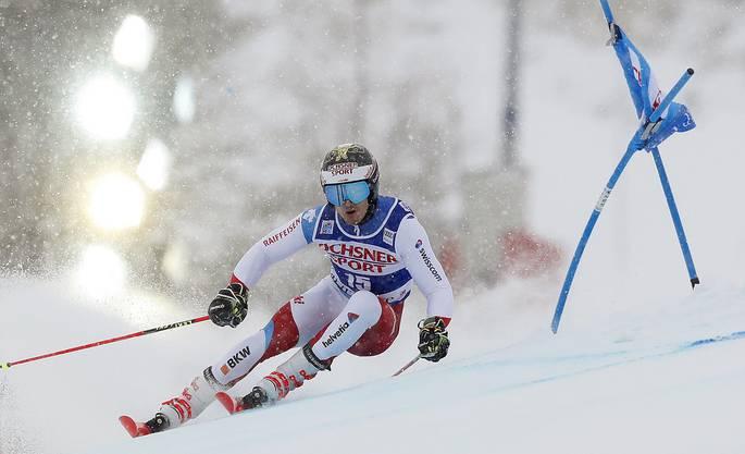 Loïc Meillard fährt im zweiten Riesenslalom des Winter zum zweiten Mal auf Rang fünf.