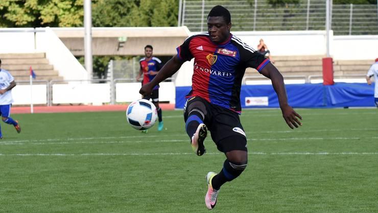 Neftali Manzambi zeigte mit der U21 des FC Basel erst in der zweiten Halbzeit sein Können.