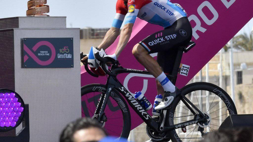 Neuer Gesamtleader des 100. Giro d'Italia: der Luxemburger Bob Jungels