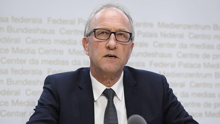 Die Finanzdelegation der eidgenössischen Räte - hier Präsident Peter Hegglin (CVP/ZG) - steht hinter dem Bundesrat. Sie hat weiteren dringlichen Covid-19-Nachtragskrediten zugestimmt. (Archivbild)