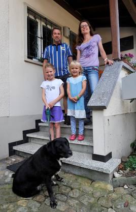 Familie Lüthi, hinten v.l., Markus, Mirjam, vorne v.l. Malin, Lotta
