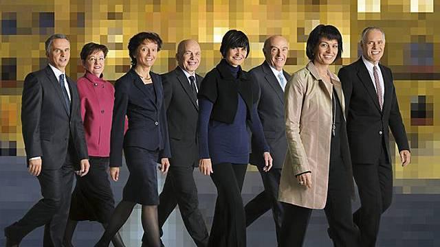 Das offizielle Foto der Landesregierung mit Bundeskanzlerin (Bild-Quelle: Handout Bundeskanzlei/Alex Spichale)