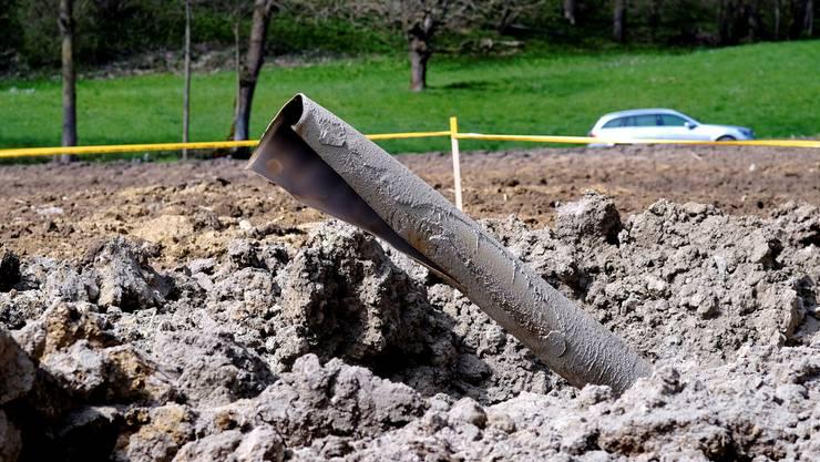 Wie ein Mahnmal ragte die geborstene Gasleitung vor etwas mehr als zwei Jahren in die Luft.