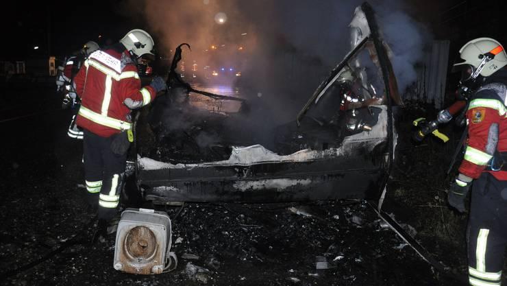 Die Feuerwehr Schönenwerd im Einsatz. (Archiv)