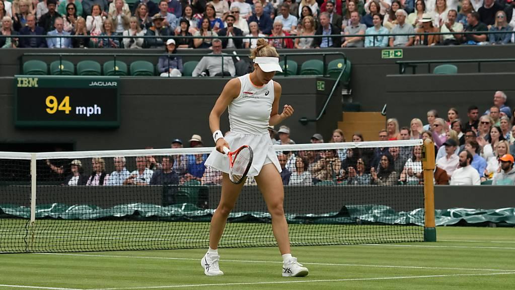 Vorerst keine Rückkehr auf Sand: Nach ihrem tollen Viertelfinal in Wimbledon verzichtet Viktorija Golubic auf das Turnier in Lausanne