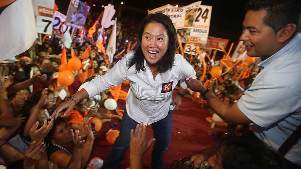 Kann kandidieren: Keiko Fujimori, Favoritin für bei den Präsidentschaftswahlen in Peru.