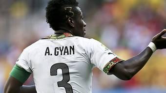 Schoss Ghana am Afrika-Cup mit seinem Tor gegen Mali in den Viertelfinal: Captain Asamoah Gyan (Archivbild)