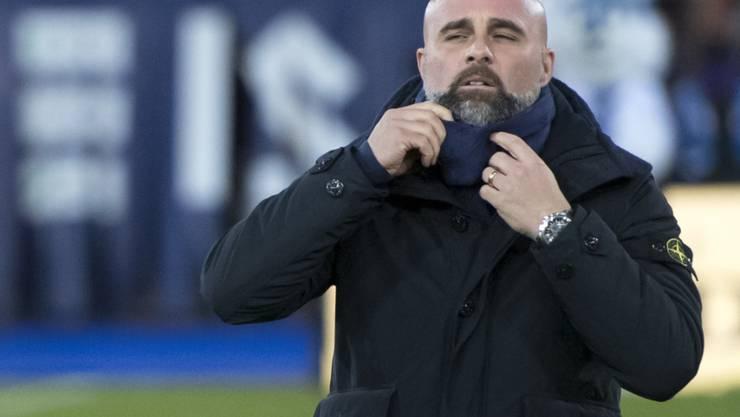 Giorgio Contini holte mit Lausanne nur einen Punkt in Wil