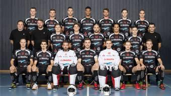 Neue Saison, viele bekannte Gesichter: die Mannschaft von Unihockey Mittelland.