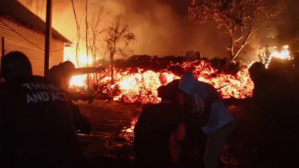 Vulkanausbruch in Kongo: Lavastrom stoppt vor Grossstadt Goma