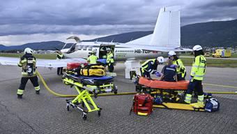 Notfallübung Flughafen Grenchen