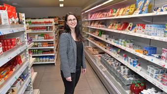 Betriebsleiterin Rebekka Häfeli im Quartierladen Chlyformat im Kleinholz.