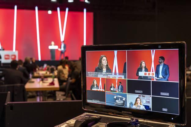 Angesichts steigender Coronainfektionen wurde der Parteitag digital durchgeführt. Vor Ort in Basel waren nur wenige.