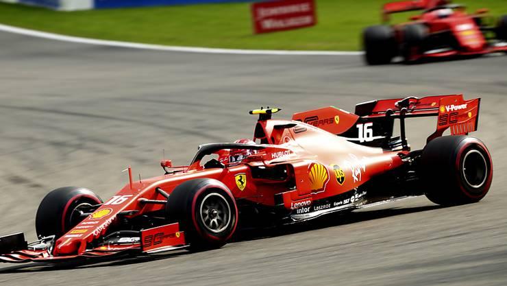 Ferrari-Fahrer Charles Leclerc feiert im GP von Belgien seinen ersten Sieg in der Formel 1